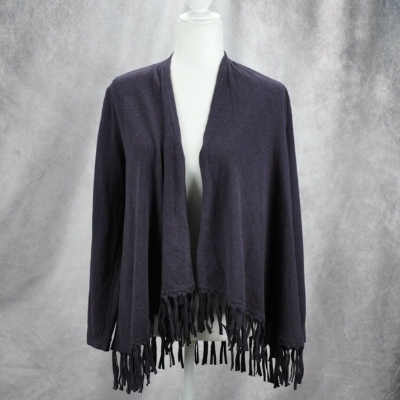 Style & Co Sweaters - Style & Co. Womens Open Front Fringe Sweater